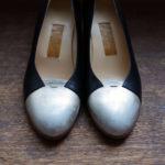 靴 オーダー パンプス 黒 シルバー 神戸 halva-halva