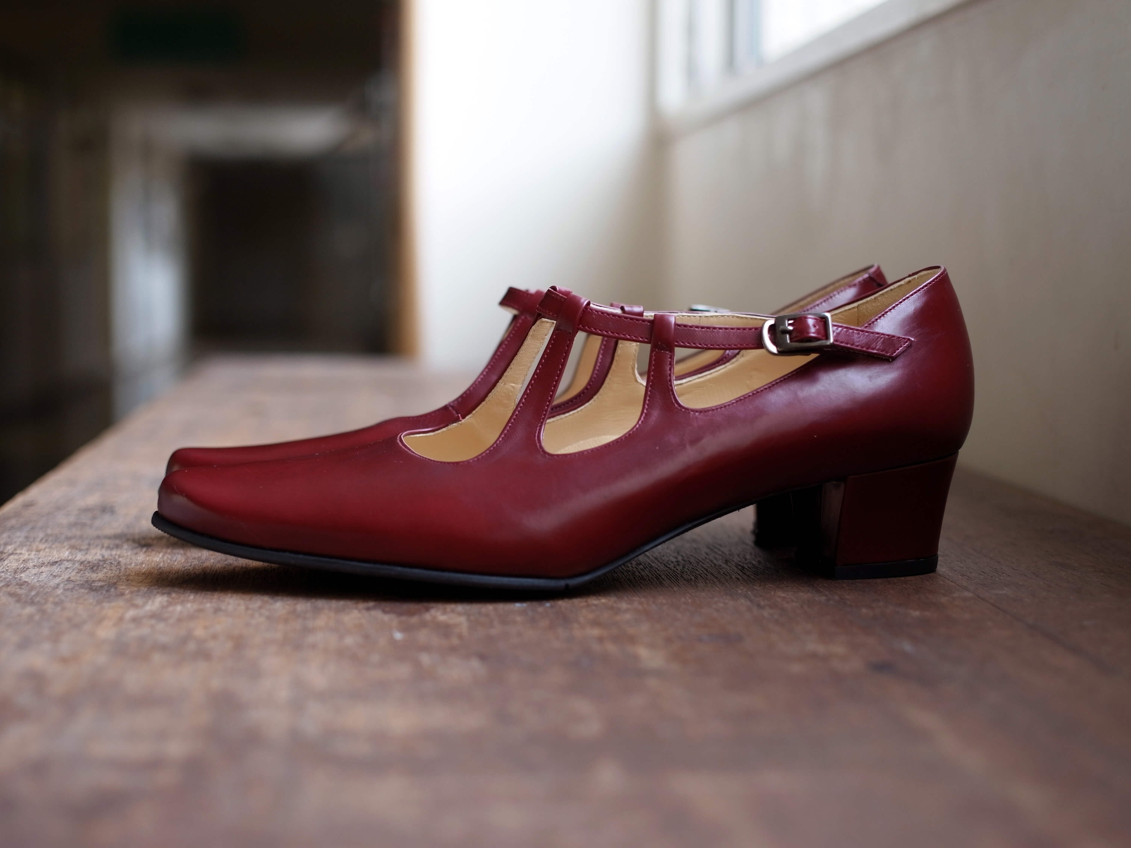 靴 オーダー パンプス レッド 神戸 halva-halva