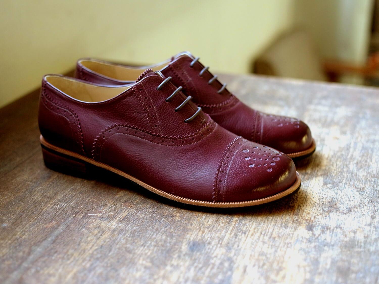 靴 オーダー 紐靴 ワイン 神戸 halva-halva