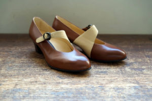 靴 オーダー パンプス ブラウン イエローベージュ 神戸 halva-halva