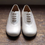 靴 オーダー 紐靴 ホワイト 神戸 halva-halva