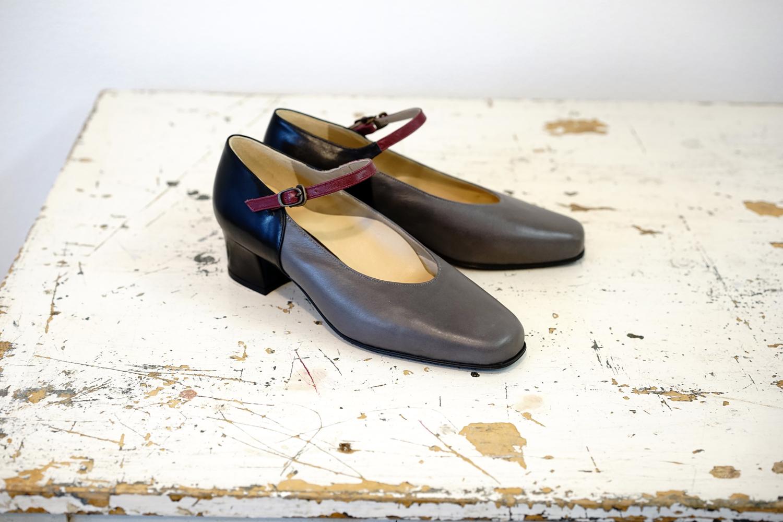 靴 オーダー パンプス 黒 グレー ワイン 神戸 halva-halva