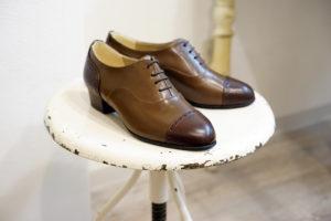 靴 オーダー 紐靴 ダークブラウン ライトブラウン 神戸 halva-halva