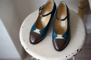 靴 オーダー パンプス ブルー ホワイト ブロンズ 神戸 halva-halva