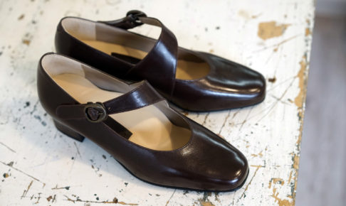 靴 オーダー パンプス ダークブラウン 神戸 halva-halva