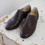 靴 オーダー 紐靴 ダークブラウン 神戸 halva-halva