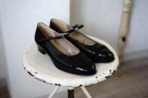 オーダー 靴 パンプス ストラップ 黒