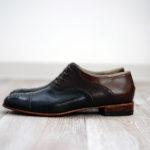 紐靴 茶系 オーダー靴